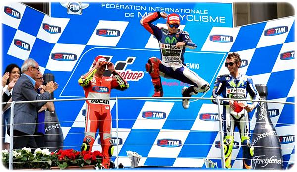 Lorenzo Juara 1, Rossi Juara 3 MotoGP seri ke-6 Mugello Italy 2015