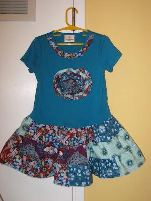 tiered twirly skirt tee shirt dress