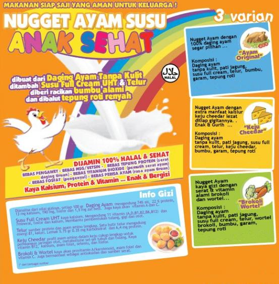 "Nugget ""ANAK SEHAT"" Kaya Protein, Vitamin & Kalsium Bebas"