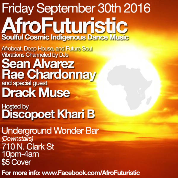 Friday 9/30: AfroFuturistic @ Underground Wonder Bar