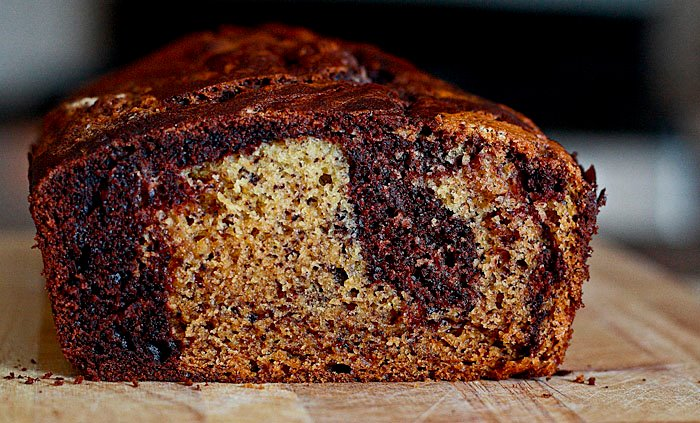 Lemon Drop: Chocolate Banana Marble Bread
