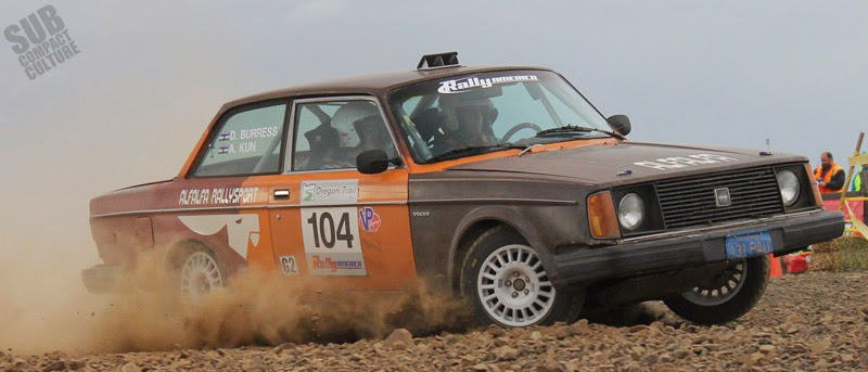 Volvo 240 rally car
