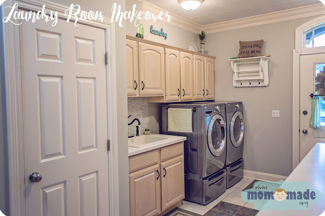Laundry Room/Mudroom Makeover by Mom-Made