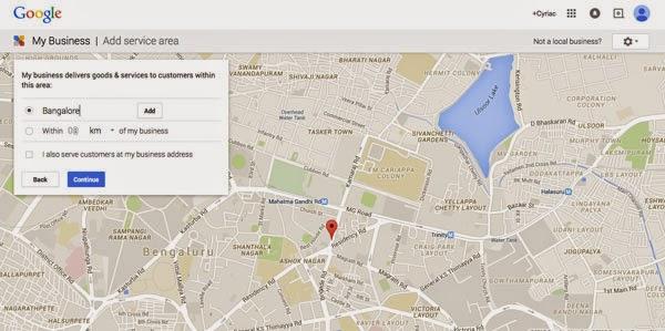 Define service area for your Thai Massage Spa in Google