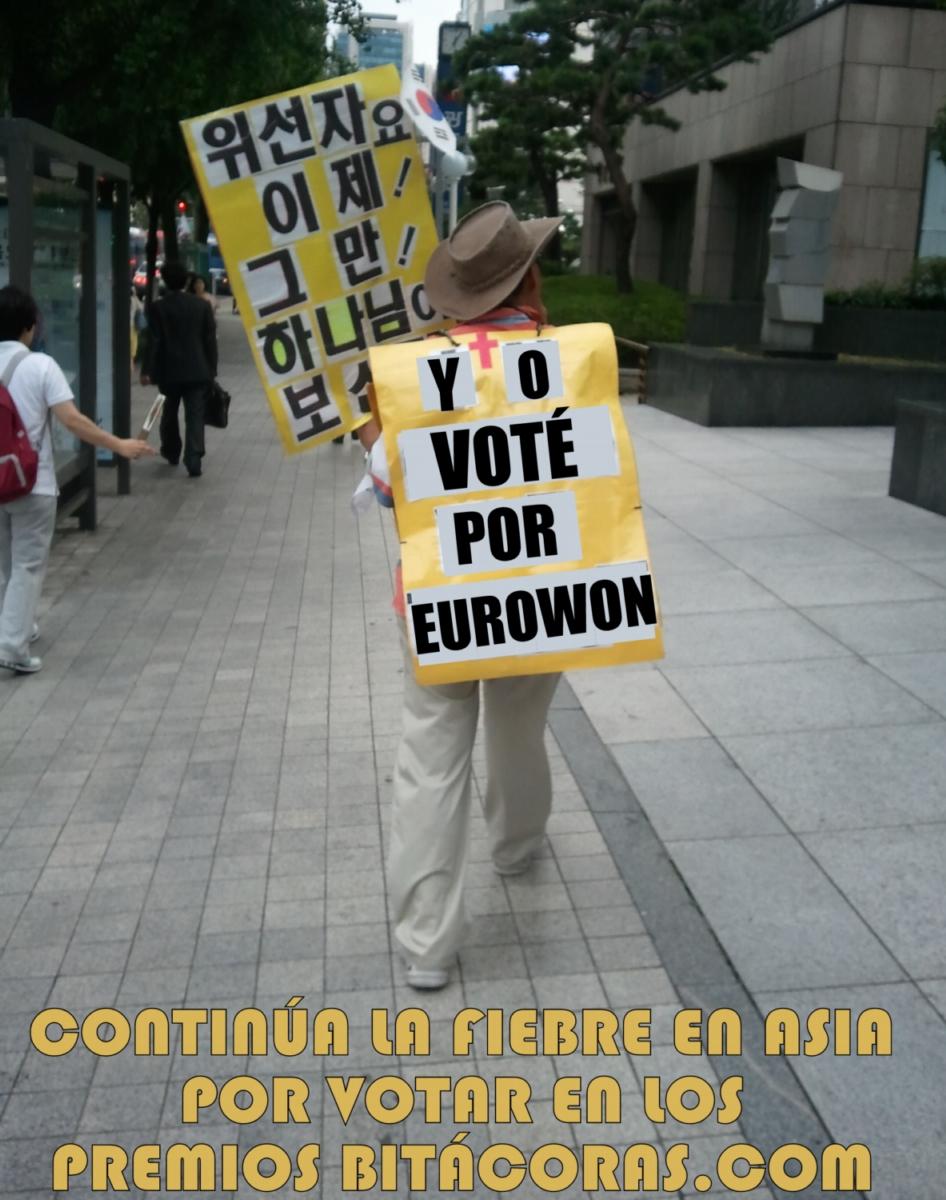 Cristiano radical votando por el blog Eurowon
