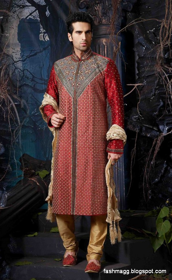 Men new latest style sherwani designs sherwani online pics images 2013