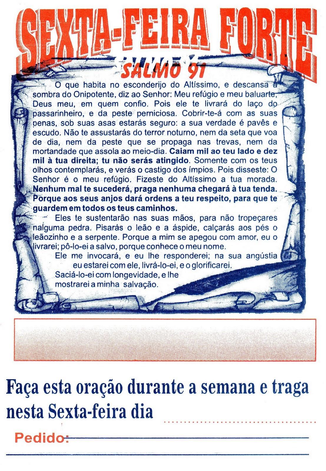 Conhecido NA SEXTA FEIRA FORTE- ORAÇÃO DA PROTEÇÃO DO SALMOS 91 FM15