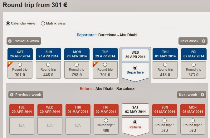 Vuelos baratos Abu Dhabi desde Barcelona