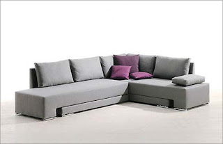 Cool Grey Modern Sofa
