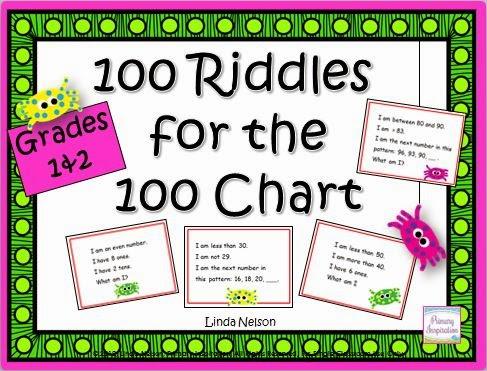 http://www.teacherspayteachers.com/Product/100-Riddles-for-the-Hundred-Chart-191803