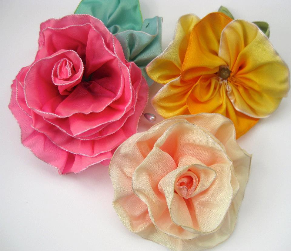 Pinkflamingo61 Handmade Silk Flowers Millinery Ribbons