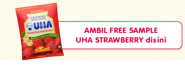 Info Sampel - Sampel Gratis 3000 Produk UHA Strawbery Milk Candy
