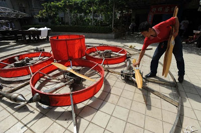 Former Chinese Farmer Builds Homemade Flying Saucer Seen On www.coolpicturegallery.us