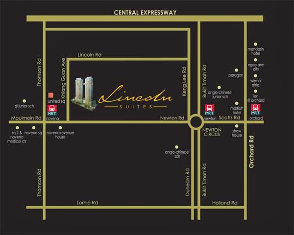 Lincoln Suites Location Map