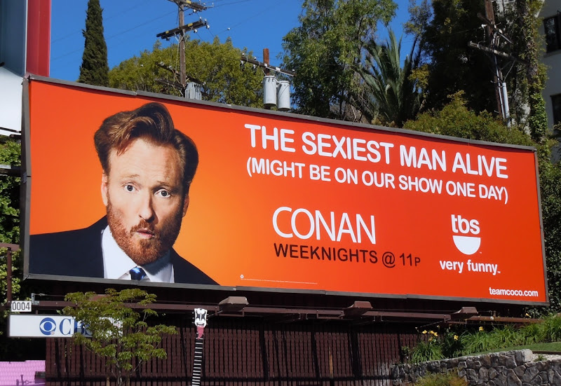 Conan sexist man TV billboard