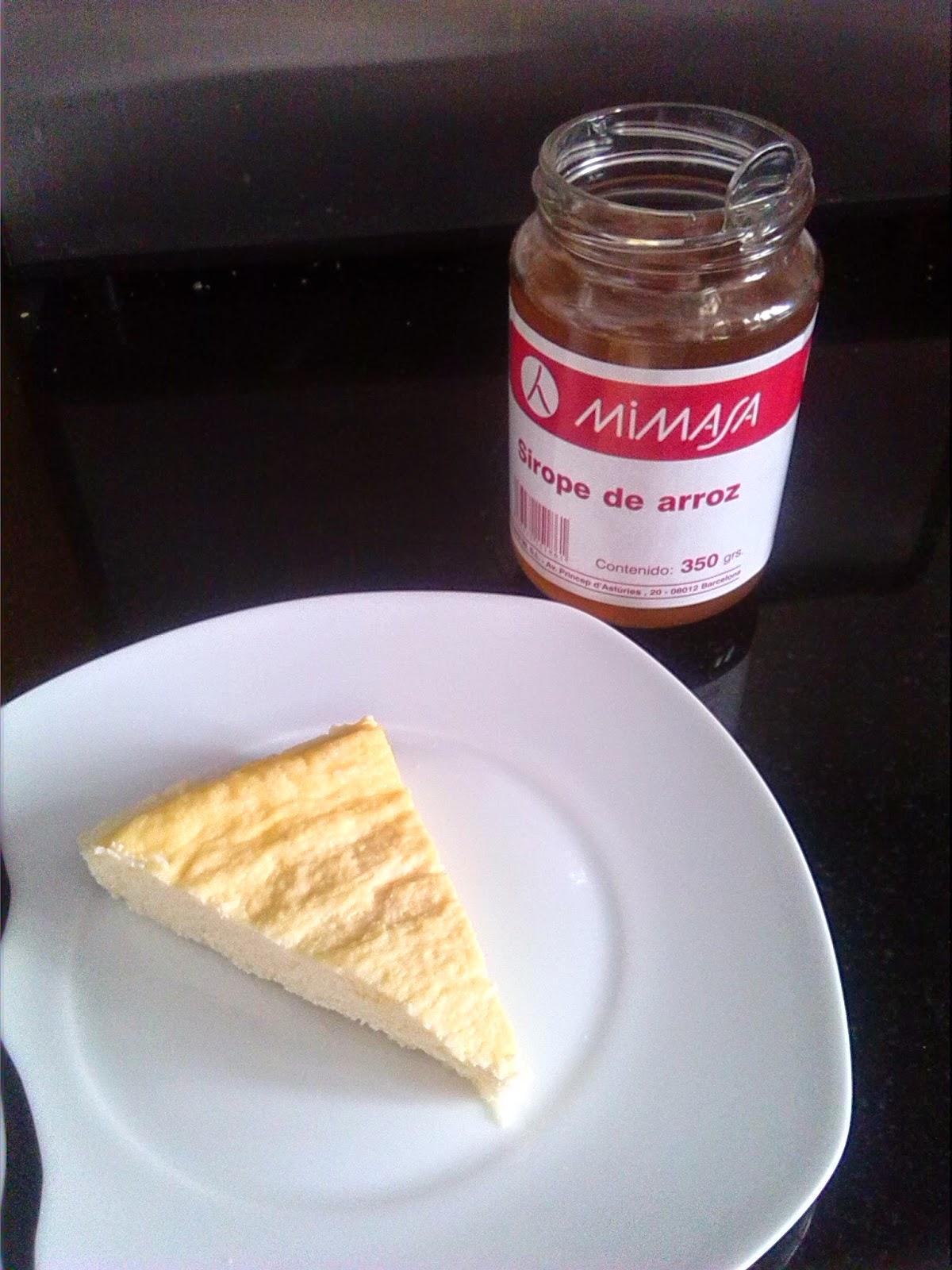 tarta de queso mimasa sirope de arroz