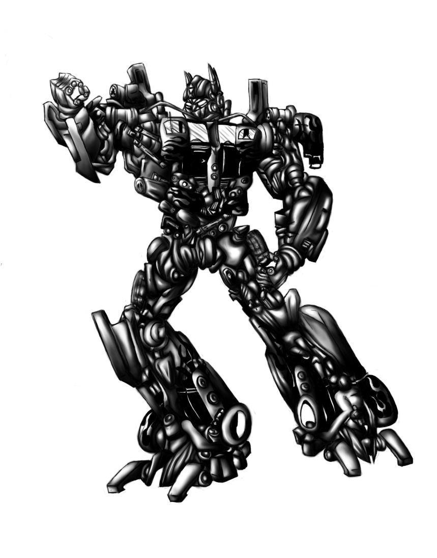 how to draw transformers optimus prime step by step