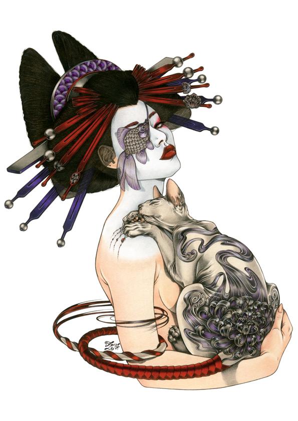 Tatuagens De Gueixas I Desenhos Tattoo Ladies