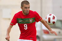 Avançado Betinho a atuar pela Seleção Sub-19 Portugal (Portugal 3-0 Estónia)