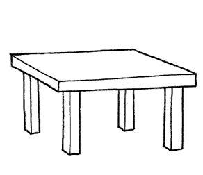 Dibujos para colorear dibujos de mesa para colorear for Mesas de dibujo baratas