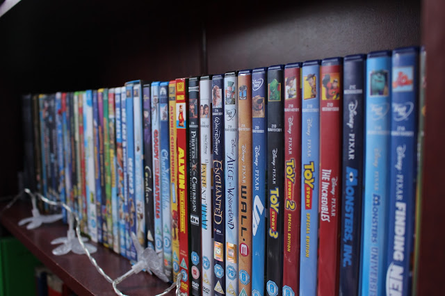 DVD's Disney movies films room bedroom
