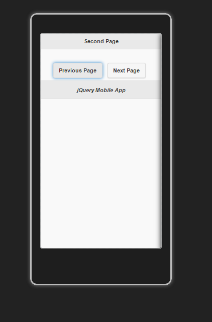 Simple First jQueryMobile