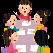 女性の会議のイラスト(PTA)