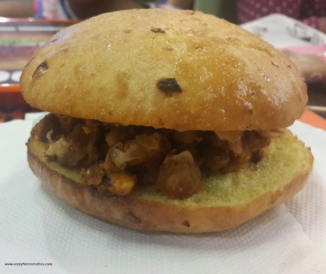 crunchy joe veg burger