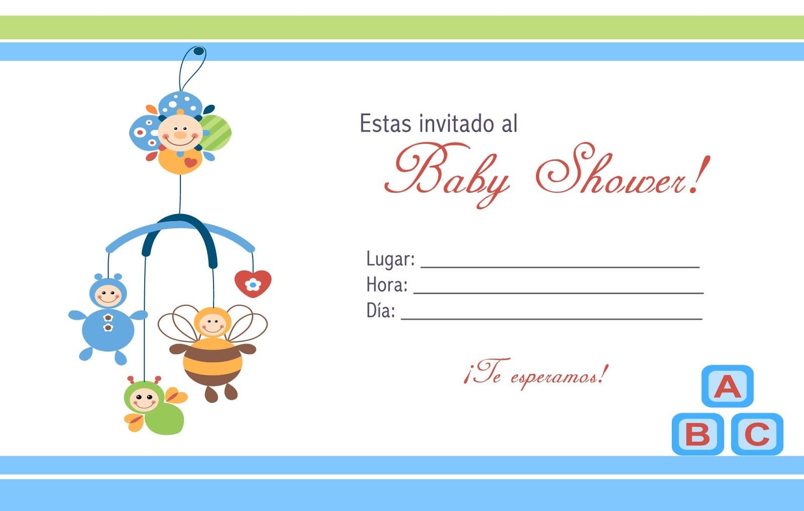 Invitación A Baby Shower   Diseña Tu Propia Tarjeta