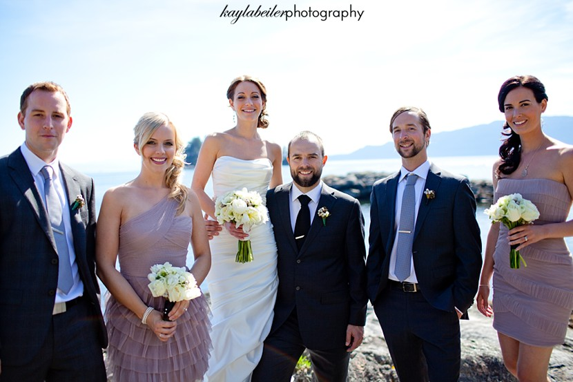 bridal party sunshine coast bc photo