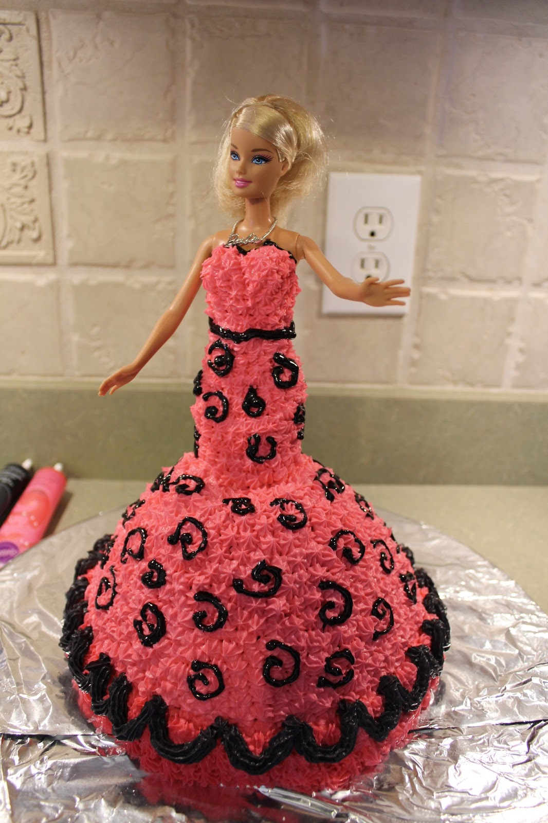The Cool Science Dad Barbie Birthday Cake