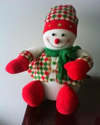 muñeco de nieve en tela