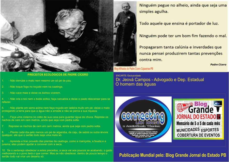 O PROFETA  E ANCHIETA  DO NORDESTE PADRE CICERO  ELE  ESCREVENDO