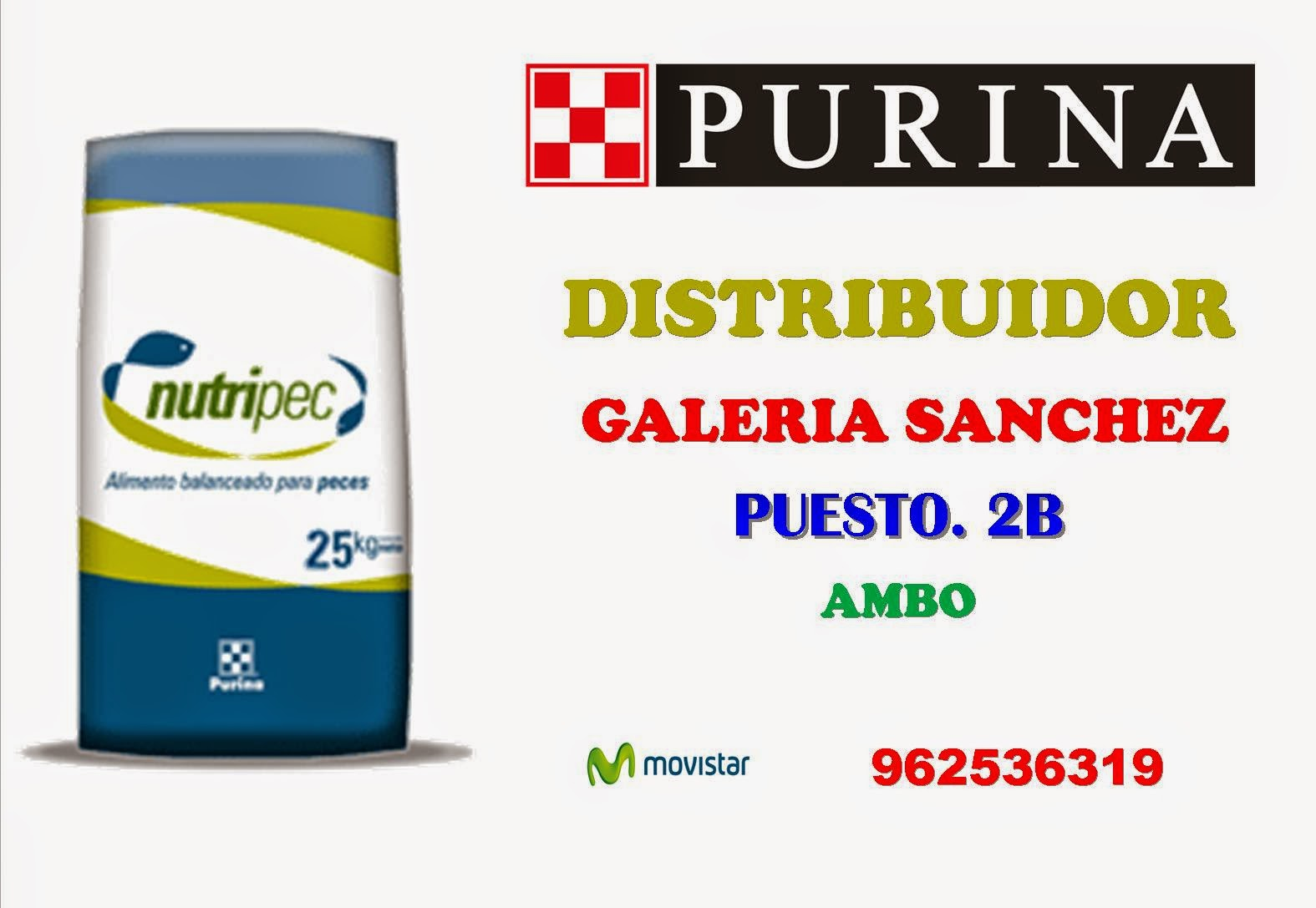 Peces distribuidor purina for Alimentos balanceados para truchas