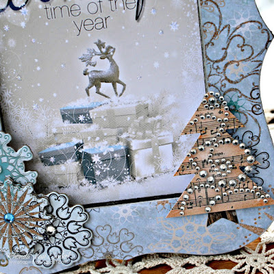 Home Decor featuring Whiteout and Sleigh Ride collections by BoBunny Designed by Rhonda Van Ginkel