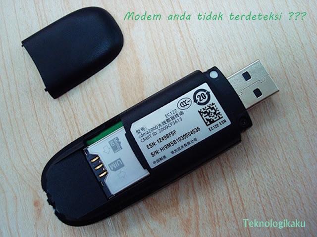 Cara mengatasi modem yang tidak terdeteksi