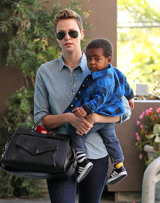 Snow White Actress Celebrity Charlize Theron adopted child Jackson