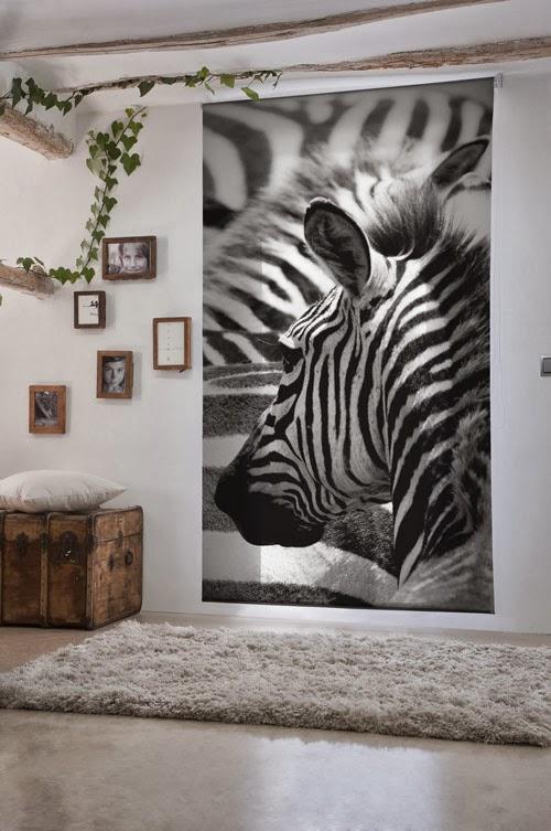 En mi espacio vital muebles recuperados y decoraci n vintage textiles nuevos para la primavera - Estor para ducha ...