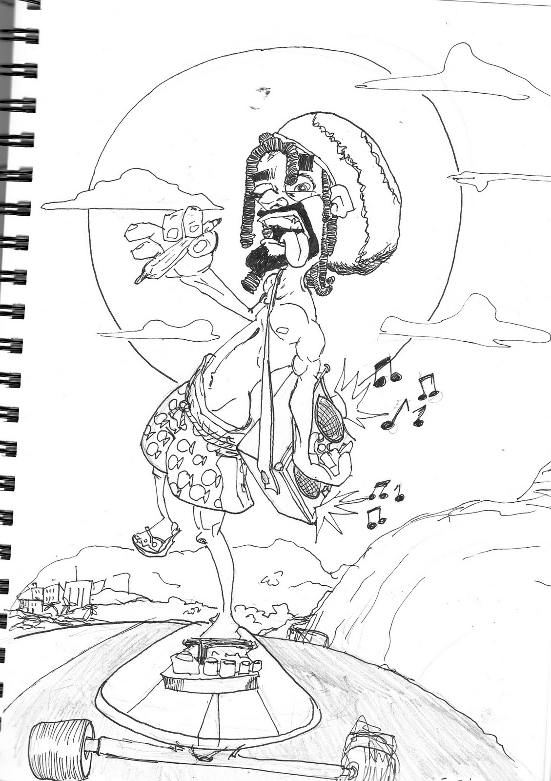 The art of lito sketchbook scans 1 for Rasta coloring pages