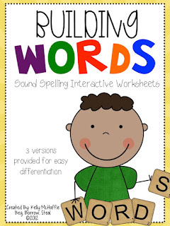 https://www.teacherspayteachers.com/Product/Building-Words-Sound-Speilling-interactive-worksheets-292491