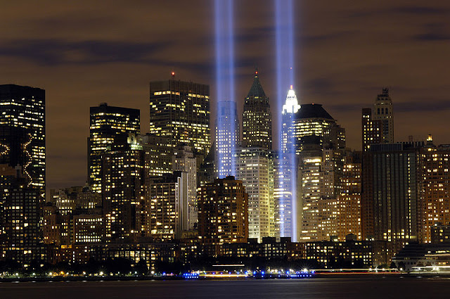 September 11th, Tribute in Light, Twin Towers, New York City