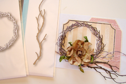 Heidi Swapp Vintage Chic Notes Behind The Wreath