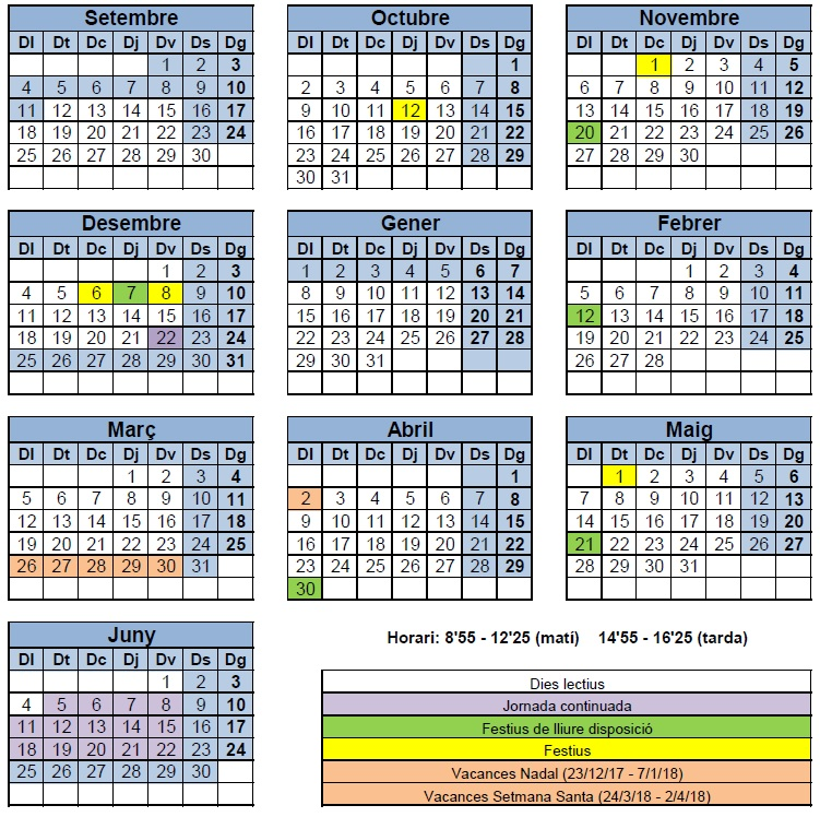 Calendari 2017/18
