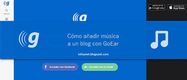 Cómo añadir música a un blog con GoEar