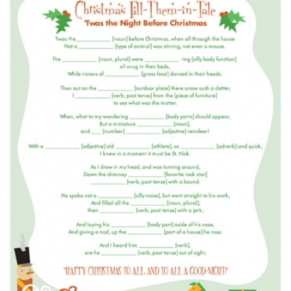 Dashing image with twas the night before christmas printable