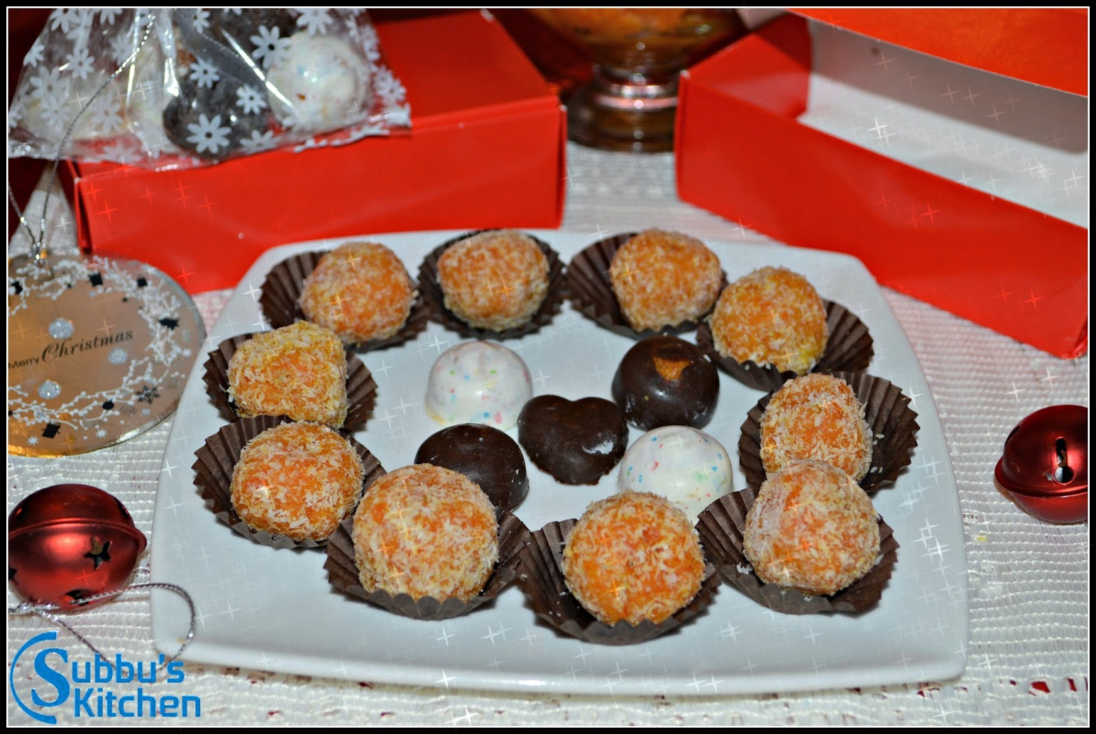 Carrot Halwa Ladoo and Candy