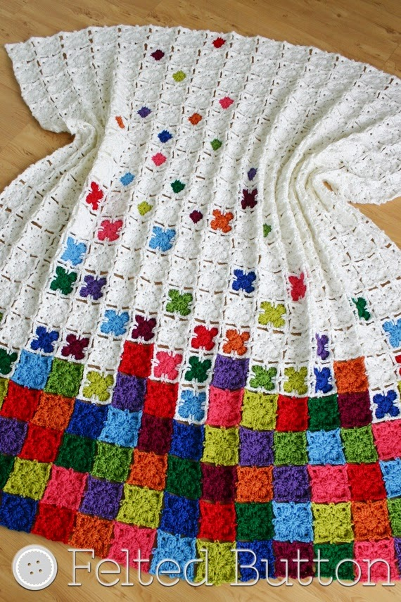 Rainbow Sprinkles Blanket (crochet pattern by Susan Carlson of Felted Button)