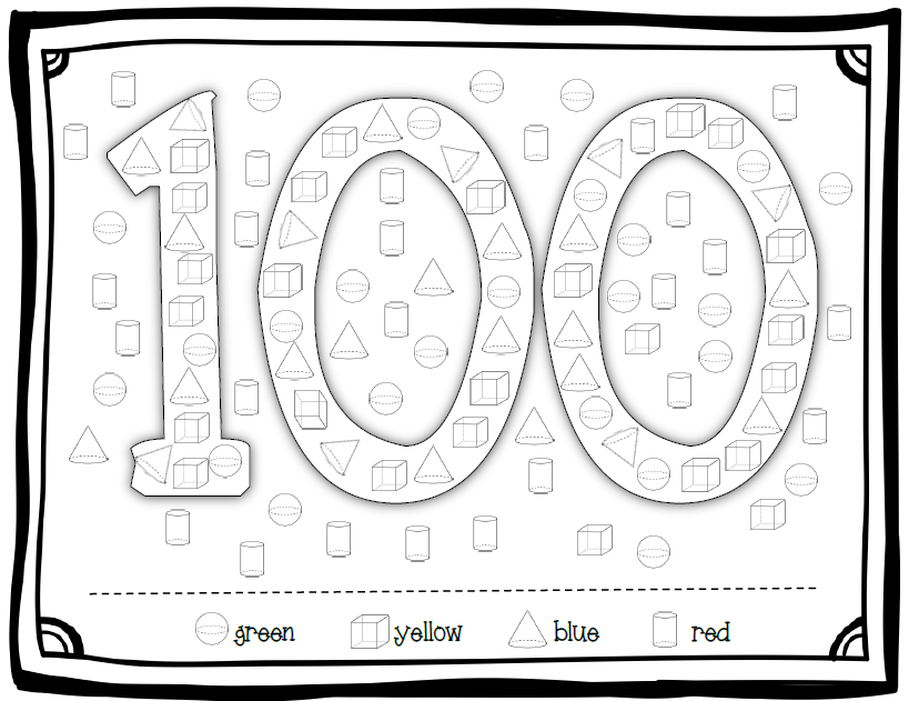 100th Day Coloring Sheet For Kindergarten New Calendar