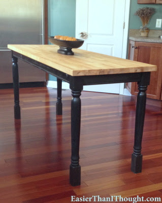 Etonnant Upcycled Dining Table Turned Butcher Block Counter Height Table. (image  Courtesy Of Easier Than I Thought)