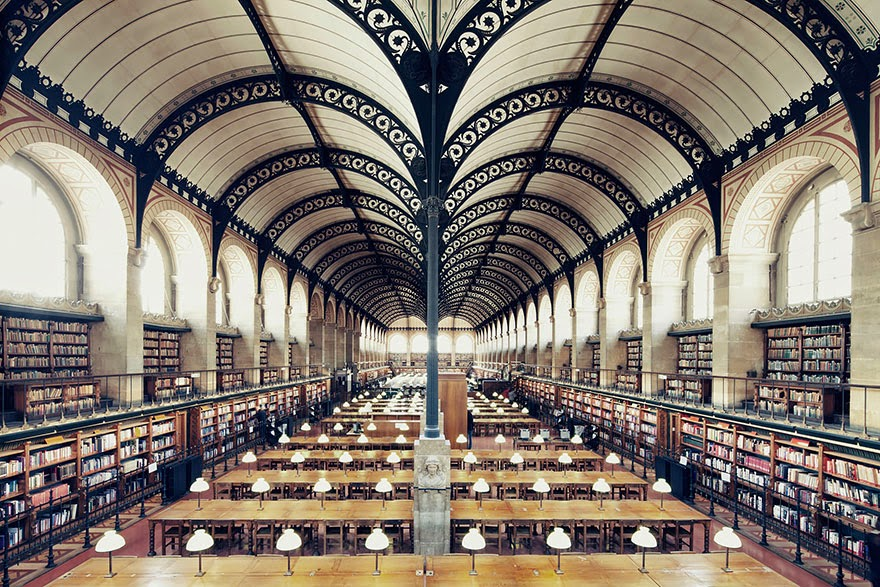 Bibliothèque Sainte Geneviève, Paris - House Of Books: The Most Majestically Beautiful Libraries Around The World Photographed By Franck Bohbot